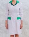 Дизайн и разработка медицинского халата от конструкторского бюро «Vestito» Ткань: сатори