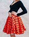 Дизайн и разработка юбки для танцевального коллектива от конструкторского бюро «Vestito» Ткань: атлас. Подкладка: жесткая и мягкая сетка. Пояс: эластичная тесьма-резинка