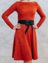 Повседневное платье из замши Конструкторское Бюро Одежды «Vestito»